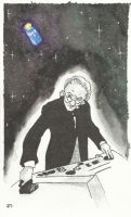 The First Doctor in The TARDIS by JonTLewis