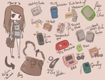 What's in my bag meme by agent-lapin