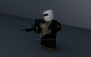 Man Holding M60 by Exoulos