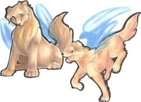 Zorey's angel pups by lizspit