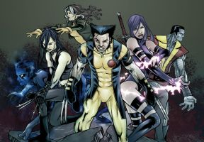 X Men Pin up by Jasen-Smith