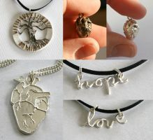 Silver clay things - March by ihni