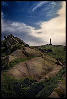 Towards the Carn Brea Monument by Enderion