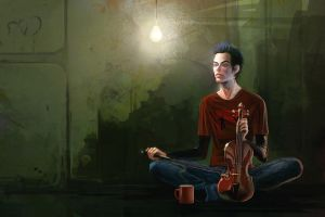 Coffe and Violin by anndr