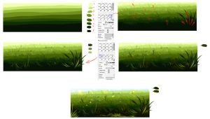 Easiest way to draw a grass by ryky