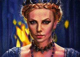 Charlize Theron (Pastel portrair) by Windtalkerss