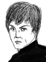 Bruce Lee Quick Sketch by kingmancheng