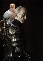 Tywin Lannister and His Daemon by LJ-Todd