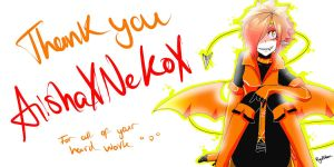 Thank you AishaXNekoX by Ryuxchan
