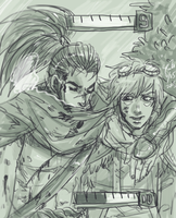 LOL - Ezreal and Yasuo by kk130