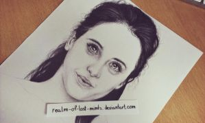 Felicity Jones portrait by realm-of-lost-minds