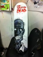 The Walking Dead Skateboard by TattooJamie