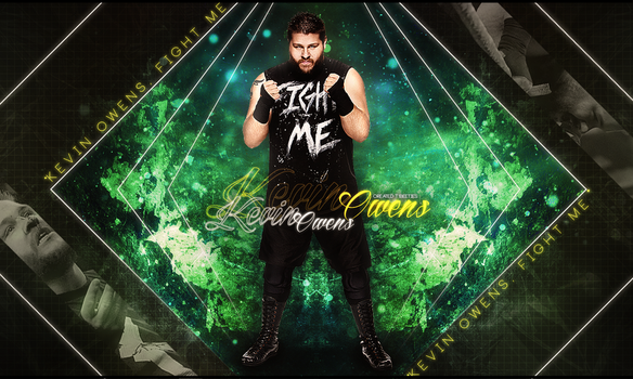 Kevin Owens Wallpaper FIGHT ME! by T1beeties by Llliiipppsssyyy