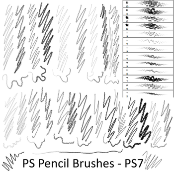 Pencil Brushes - PS7 by Dark-Zeblock