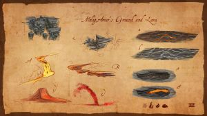 Molag Amur ground and lava by lukkar