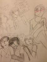 Doodles: AU Reunion, Water, and Happy Astrid by IrrelevantFrenchFry