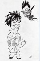 Death note crazy chibis--Han2 by HanHan