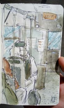 10min-Standing on the rickety bus  by Officialart-by