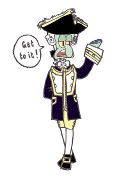 Commodore Squidward by Namu-Chewy