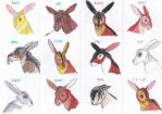Watership Down Avatar Characters by QatarShuiWan