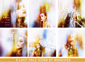 Lucy Hale Icons by Boadiceakiss