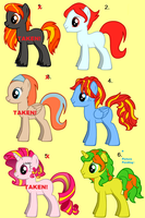 Pony Adoptables set 2 -FREE- by CrunchyButterToast