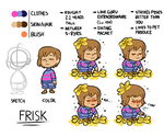 Frisk Reference Sheet by The-PaperNES-Guy