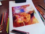 Friends underwater - Colored pencils by f-a-d-i-l