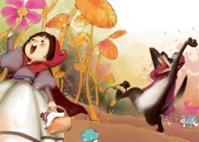 Little Red Riding Hood cont by 4leafcloverVN
