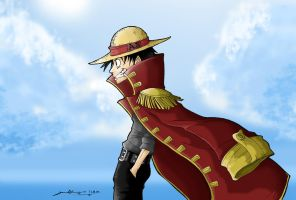New world straw-hat Luffy by G-Chris