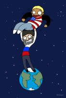 America In Space by Provass