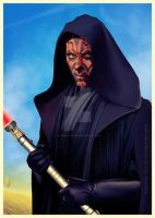 MAUL at Tatooine by Katarina-Venom