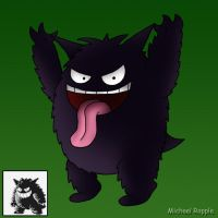 Gengar From Pokemon Green by spacepig22