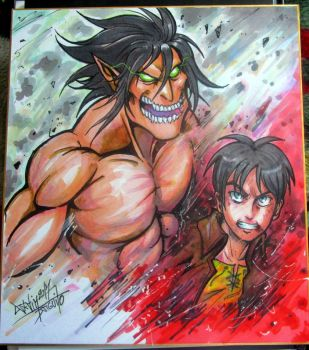 Shikishi Attack on Titan by Djiguito