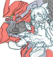 Touhou - Cirno AND NineBall(Armored Core) by Altronage