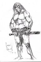 Conan - Sketch 01 by SpiritedFool