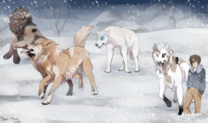 Dire Days Task Two| Dire Pack by Salt-Dog