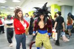 Son Goku SSJ4 and Vegeta SSJ4 at the Aninite 2013 by Caimsen