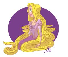 Rapunzel by LilMoony