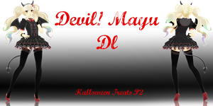 .:Halloween Treats Part 2:. Devil!Mayu (DL UP) by Crystallyna