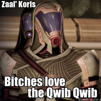 Zaal' Koris: Bitches love the Qwib Qwib by LieutenantAleka