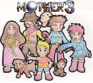Mother 3 Characters by Dan-ja-man