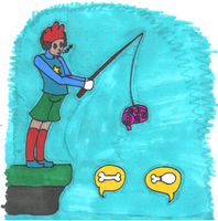 Fishing For Zombies by girloz14