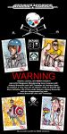 Jackass HERO sketch cards by skulljammer