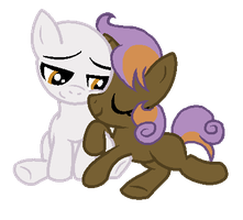 MLP:Snuggles with Victory Bell (Open Collab) by kiananuva12