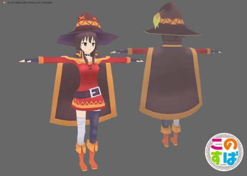 [LOWPOLY] megumin by jugapugz