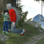 Michi and Inuyasha :: Look daddy! by TaishoBee