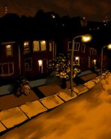 Night-time Suburb by Destro7000