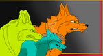 WIP - Acer, Professor Z and Grem - Wolf style by DarkWolfOfWales