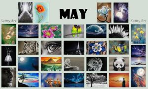 May's ACEO cards for Charity by secrets-of-the-pen